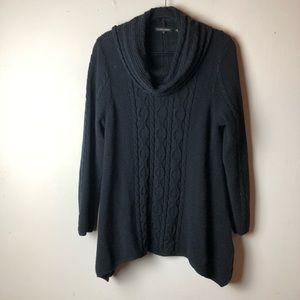 Jeanne Pierre Black Cowl Neck Sweater